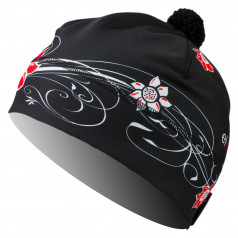 CAP FLOWER black