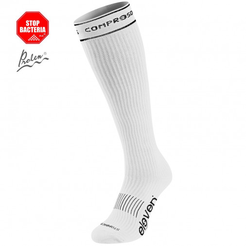 ff8512c1530 Compression socks Eleven full white - ELEVEN sportswear