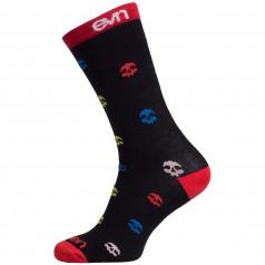 Socks Eleven Suuri+ Skull Black
