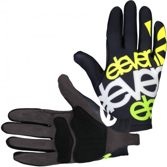 Cyklistické rukavice Eleven Long Fluo Black