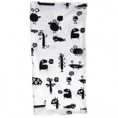 Multifunctional scarf BUGS white