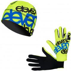 Běžecké rukavice + čepice ELEVEN Fluo F11