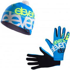 Běžecké rukavice + čepice ELEVEN Fluo F2925