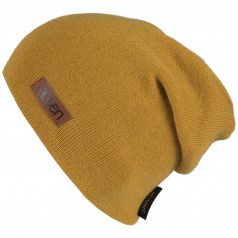 Knitted beanie Eleven L-Mustard