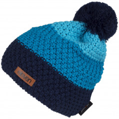 Knitted beanie Eleven POM Blue