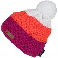 Knitted beanie Eleven POM Orange/Pink