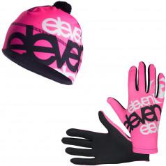 Running gloves + cap ELEVEN Fluo F32