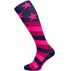 Kompresní podkolenky Stars Pink