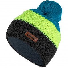 Knitted beanie Eleven POM Fluo/Black