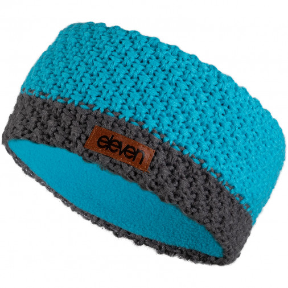 Knitted headband Eleven Blue/Grey