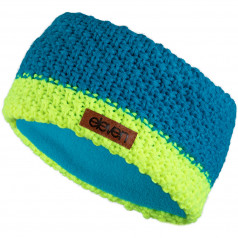 Knitted headband Eleven Blue/Fluo