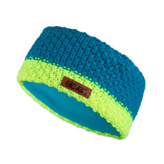 Knitted headband Eleven Blue/Fluo Kids