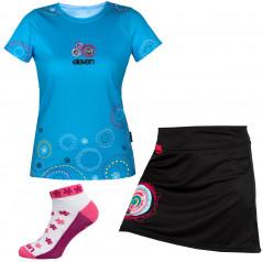 Set běžeckého trika, sukně a ponožek Eleven Retro 17