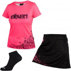 Set běžeckého trika, sukně a ponožek Eleven F163