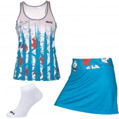 Set běžeckého tílka, sukně a ponožek Eleven Score Bloom