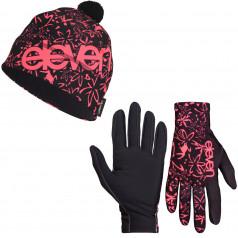 Běžecké rukavice + čepice ELEVEN F163