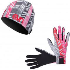 Běžecké rukavice + čepice Pass 7