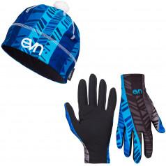 Běžecké rukavice + čepice Pass Blue