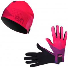 Běžecké rukavice + čepice Top 2