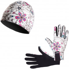 Běžecké rukavice + čepice ELEVEN Retro 29