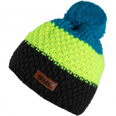 Knitted beanie Eleven POM Fluo/Blue