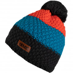 Knitted beanie Eleven POM Orange/Grey