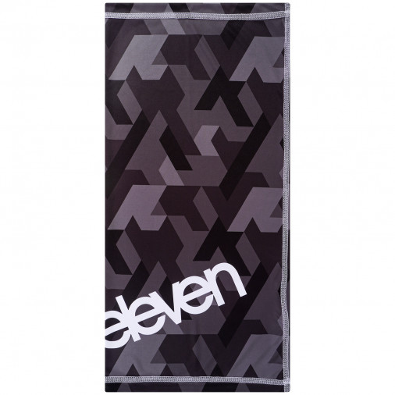 Multifunctional scarf Eleven Vertical Black