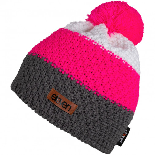 Knitted beanie Eleven Pom Pink