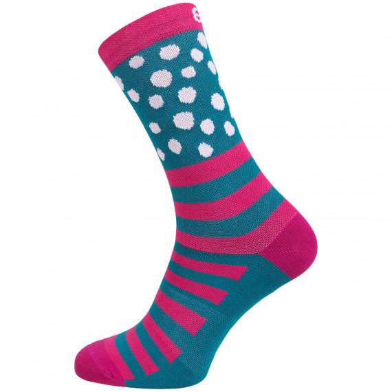 Socks Eleven Suuri+ Dotline Pink