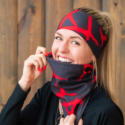 Neck Warmer Eleven XI Red