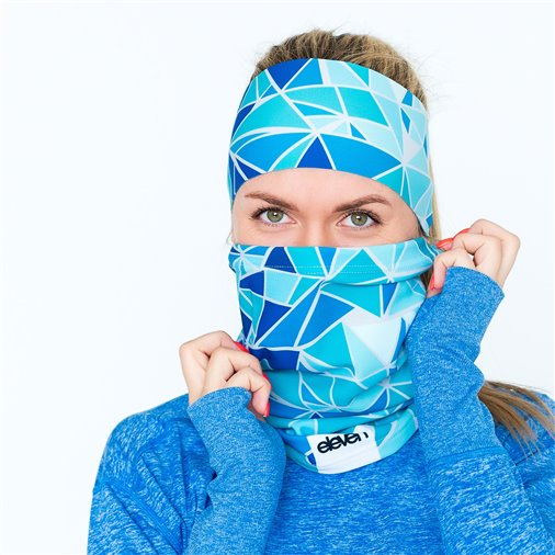 Neck Warmer Eleven Outline Turquoise