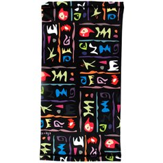 Multifunctional scarf INDIAN black